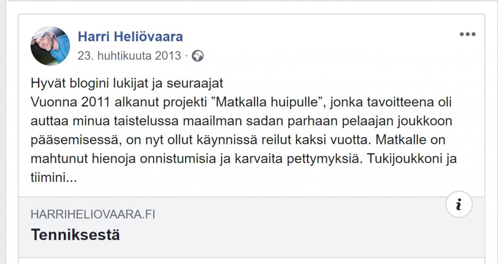 Lopetusviestini vuonna 2013